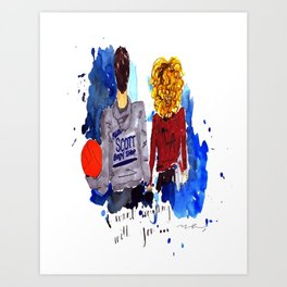 Peyton and Lucas, One Tree Hill Art Print