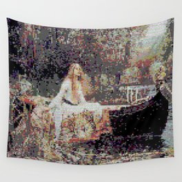 Lady of Shallot Glitch II Wall Tapestry