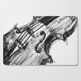 Black Violin Cutting Board