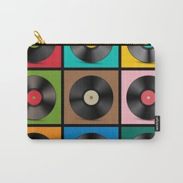 Retro Record Vinyls Carry-All Pouch
