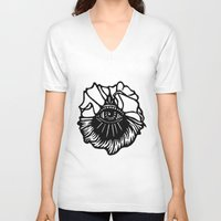 third eye V-neck T-shirts featuring Third Eye by Cecile Psicheer
