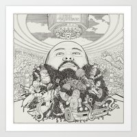 action bronson Art Prints featuring ACTION BRONSON by samellisdesign