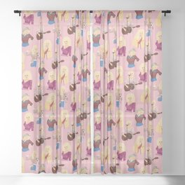 Here You Come Again Sheer Curtain