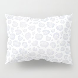 White & Light Gray Leopard Print  Pillow Sham