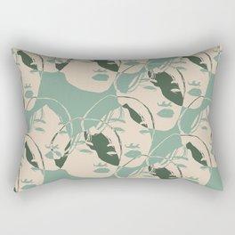 Stencil Faces Rectangular Pillow
