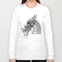 dragon Long Sleeve T-shirts featuring Dragon by Elisa Camera