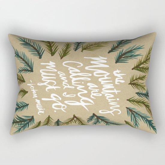 Mountains Calling – Kraft Rectangular Pillow