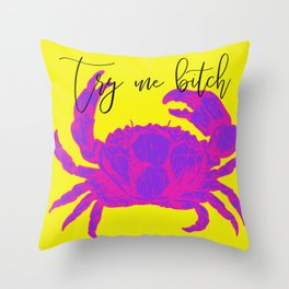 One Rude Crab Throw Pillow