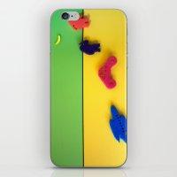 neil gaiman iPhone & iPod Skins featuring Com'è la luna Neil? by Annagina Totaro