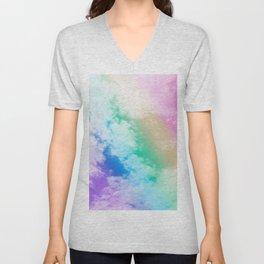 Unicorn Rainbow Clouds #1 #decor #art #society6 Unisex V-Neck