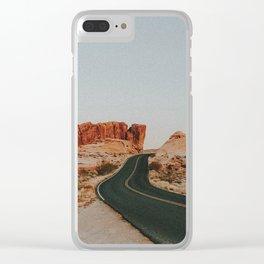 Desert Road Trip IV Clear iPhone Case