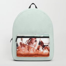 melting ice in a glass Backpack