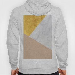 Carrara Marble with Gold and Pantone Hazelnut Color Hoody