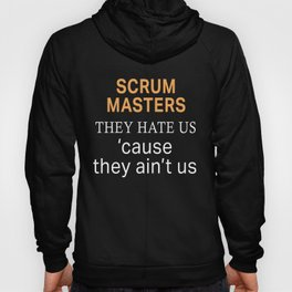 Funny Scrum Master Hate us Aint Us design Hoody