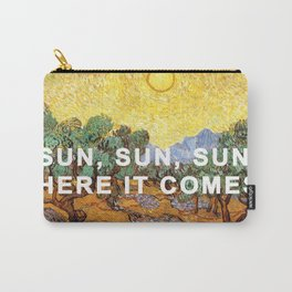 Here Comes the Yellow Sky and Sun Carry-All Pouch