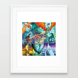 Wings Of Fire Painting Framed Art Print