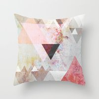 triangles Throw Pillows featuring Graphic 3 by Mareike Böhmer