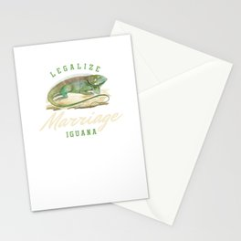 Legalize Marriage Iguana Reptile Reptilia Herpetology Reptilian Cold Blooded Animal Gift Stationery Cards