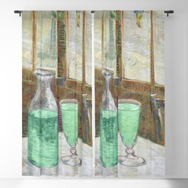 Drinking Absinthe Aperitifs in a Paris Cafe with Vincent still life portrait by Vincent van Gogh Blackout Curtain