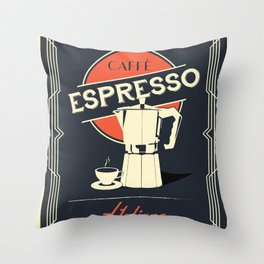 Caffe Espresso Italiano Throw Pillow