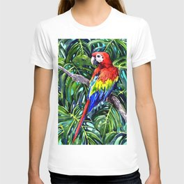 Scarlet Macaw in Rainforest T-shirt