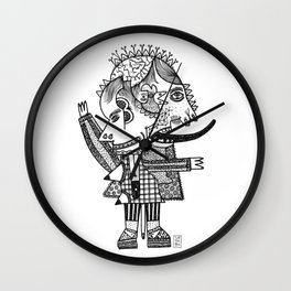 Head with flowers Wall Clock