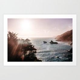 California Coastal Mist Art Print