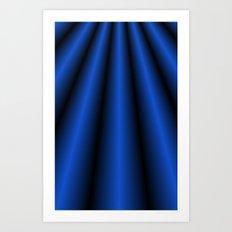 Blue Chiffon Dress Art Print