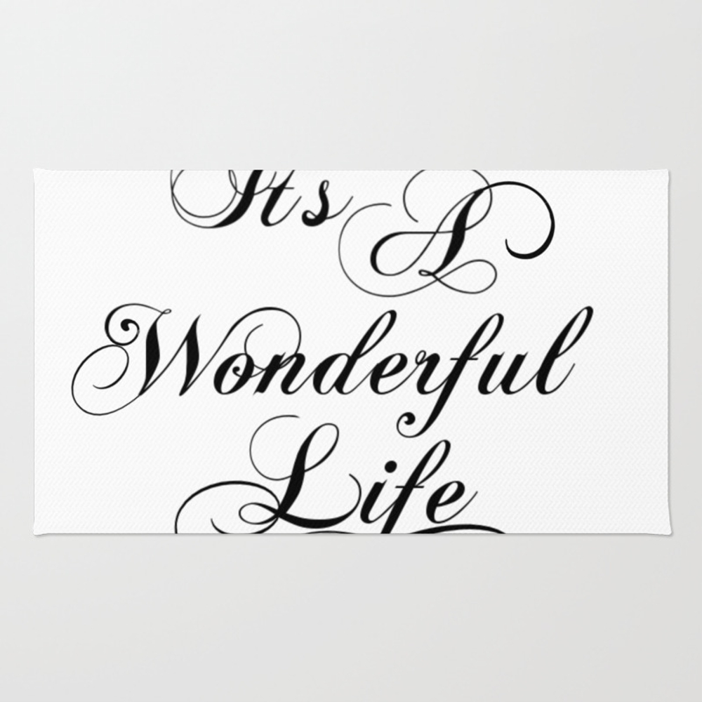 It's A Wonderful Life Rug by Jennsview RUG7988430