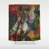 chinese Shower Curtains featuring Chinese wall by dominiquelandau