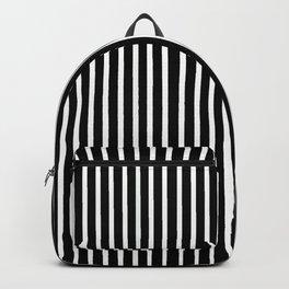 Stripes Black and White Backpack