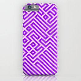 Optical Chaos 03 purple iPhone Case