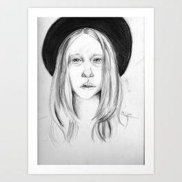 Violet American Horror Story Drawing Art Print