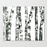 birch Canvas Prints featuring Birch    by kristinesarleyart