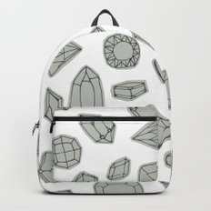 doodle crystals on white Backpack