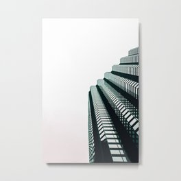 chicago look up architecture urban photography Metal Print