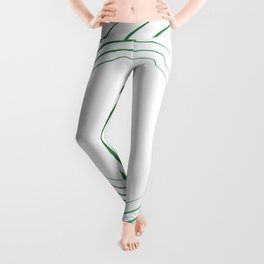 Green Curved Wave Leggings