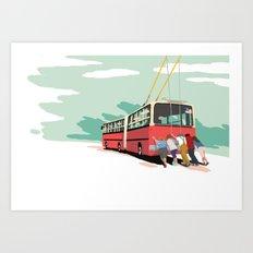 Ikarus Trolleybus Art Print