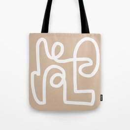 beige squiggle Tote Bag
