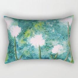 Abstract Dandelions WISH Rectangular Pillow