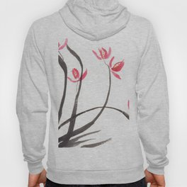 Orchid in Sumi Ink Hoody
