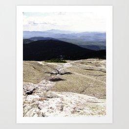Land Waves Art Print
