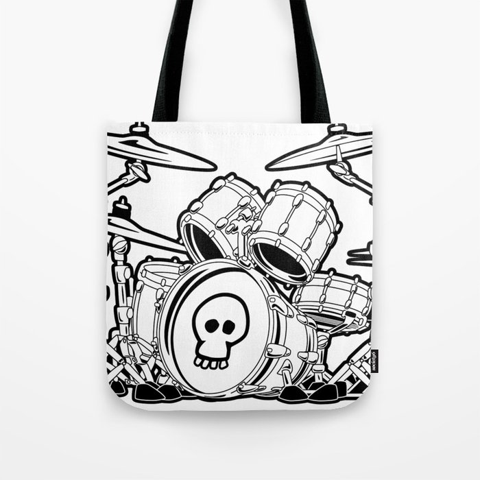 Drum Set Cartoon Tote Bag By Hobrath Society6