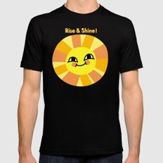 Rise and Shine! Mens Fitted Tee Black MEDIUM