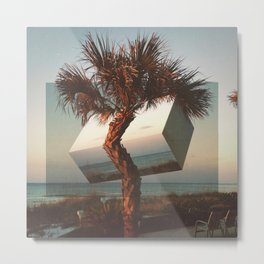 twisted palm Metal Print