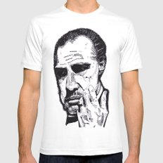 The Godfather White MEDIUM Mens Fitted Tee