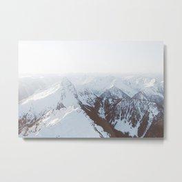Snowy Mountains in Washington Metal Print