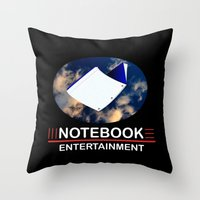 notebook Throw Pillows featuring Notebook Entertainment 2 by NotebookFilms