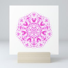 Magic Seven Mandala eden spirit bright pink Mini Art Print