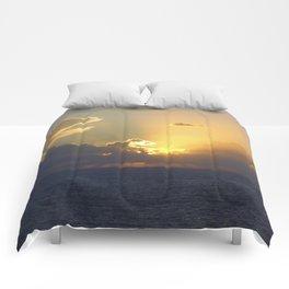 Sunset, Amalphi coast, Italy 2 Comforters